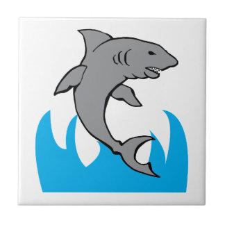 Tiburón de salto tejas  cerámicas