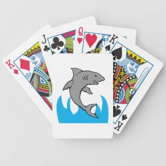 Tiburón de salto cartas de juego