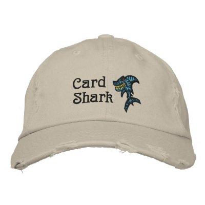 Tiburón de tarjeta gorra de beisbol bordada