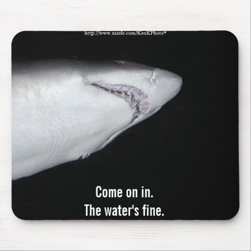 Tiburón de tigre de arena Mousepad Alfombrillas De Ratón
