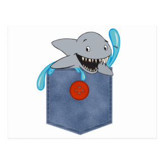 Tiburón del bolsillo de Jean Postales