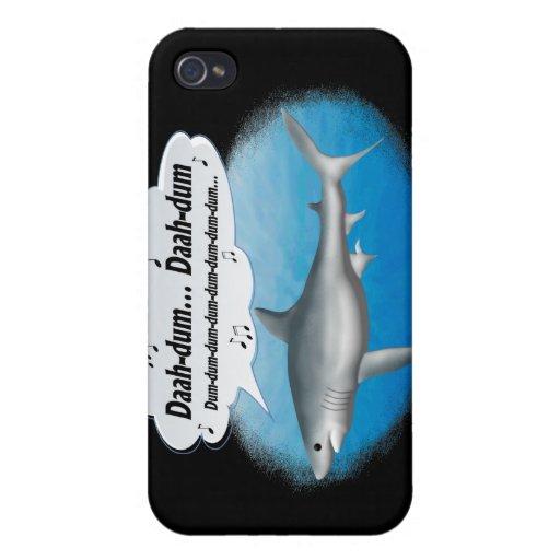 Tiburón del canto del tema de la película iPhone 4 fundas