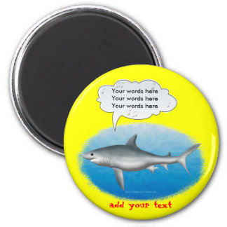 Tiburón del canto imán redondo 5 cm