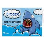 Tiburón del cumpleaños tarjetón