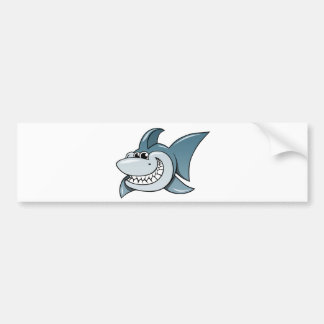 Tiburón del dibujo animado pegatina de parachoque