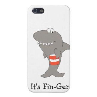 Tiburón del dibujo animado con el cubo de pollo fr iPhone 5 cobertura