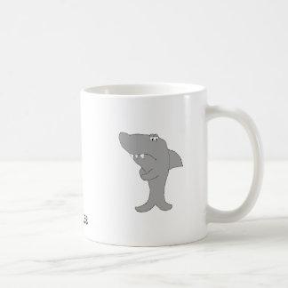 Tiburón del dibujo animado del Grump Taza De Café