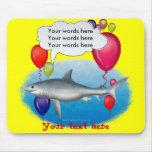 Tiburón del fiesta que habla tapete de ratón