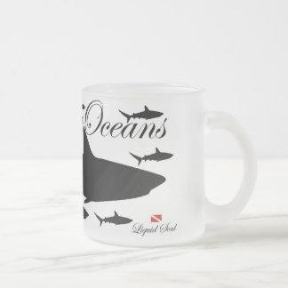 Tiburón del filón - ahorre nuestros océanos taza de cristal