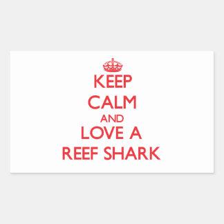 Tiburón del filón rectangular pegatinas