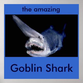 Tiburón del Goblin Posters