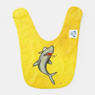Tiburón del marinero de la escuela vieja baberos de bebé