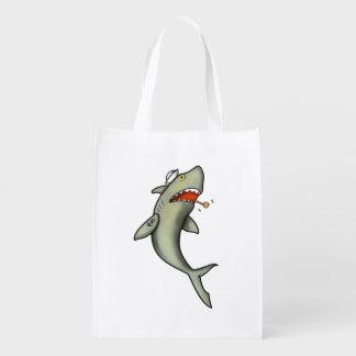 Tiburón del marinero de la escuela vieja bolsa para la compra