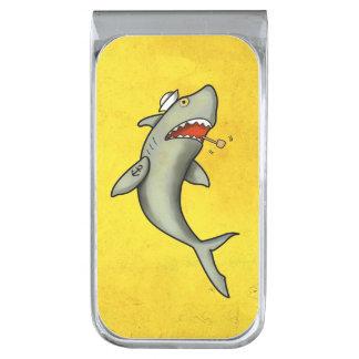 Tiburón del marinero de la escuela vieja clip para billetes plateado