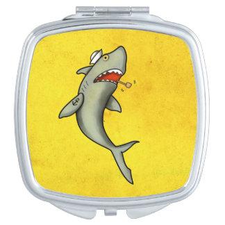 Tiburón del marinero de la escuela vieja espejos de viaje