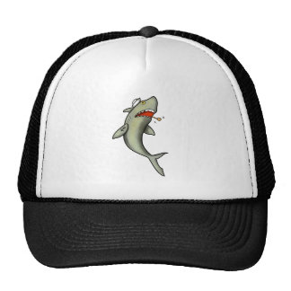 Tiburón del marinero de la escuela vieja gorra