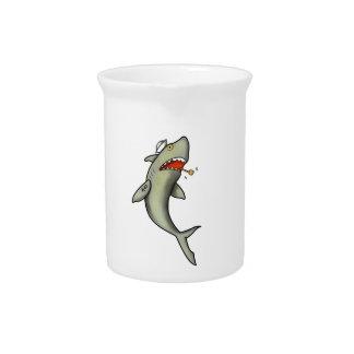Tiburón del marinero de la escuela vieja jarrón