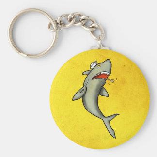Tiburón del marinero de la escuela vieja llaveros
