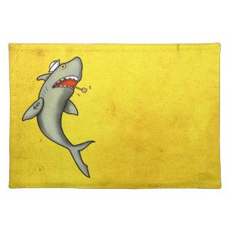 Tiburón del marinero de la escuela vieja manteles individuales