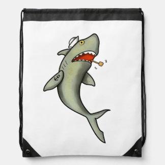 Tiburón del marinero de la escuela vieja mochilas