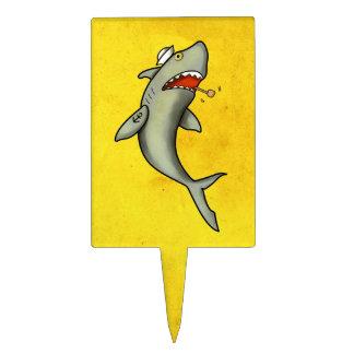 Tiburón del marinero de la escuela vieja palillos de tarta