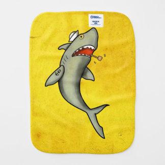 Tiburón del marinero de la escuela vieja paños para bebé