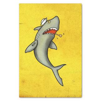 Tiburón del marinero de la escuela vieja papel de seda pequeño