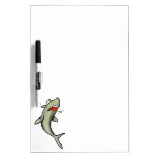 Tiburón del marinero de la escuela vieja pizarra