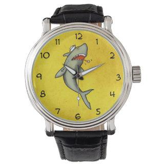 Tiburón del marinero de la escuela vieja reloj de mano