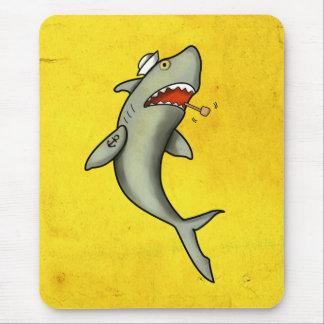 Tiburón del marinero de la escuela vieja tapete de raton