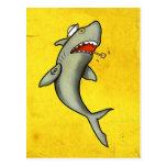 Tiburón del marinero de la escuela vieja tarjetas postales