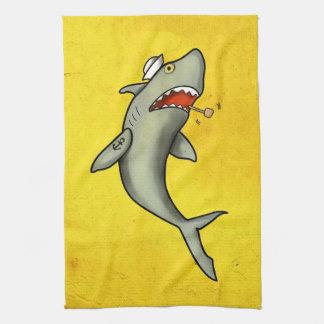 Tiburón del marinero de la escuela vieja toallas