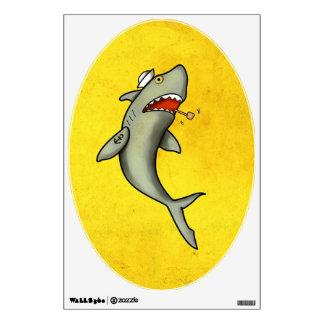 Tiburón del marinero de la escuela vieja vinilo adhesivo