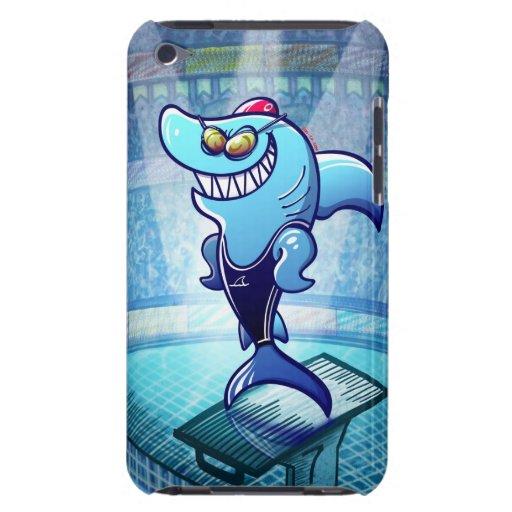 Tiburón del nadador iPod touch Case-Mate fundas
