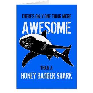 Tiburón del tejón de miel (cumpleaños) tarjeta de felicitación