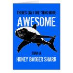 Tiburón del tejón de miel (cumpleaños) tarjeton