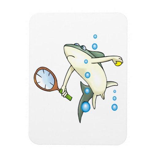 Tiburón del tenis iman flexible