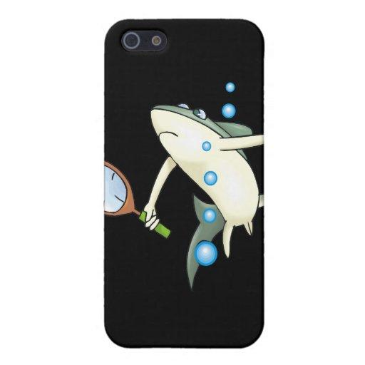 Tiburón del tenis iPhone 5 fundas