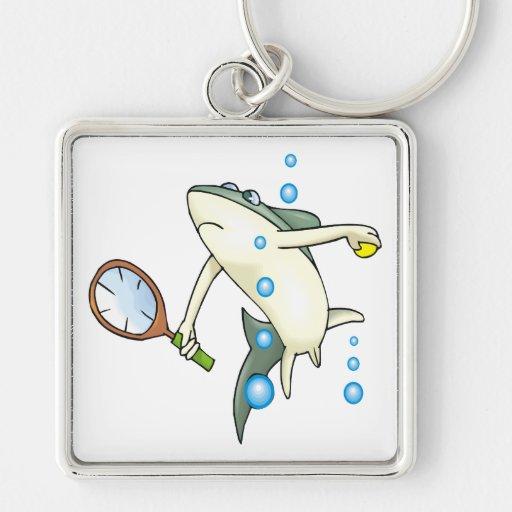 Tiburón del tenis llavero personalizado
