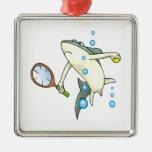 Tiburón del tenis ornamentos de reyes