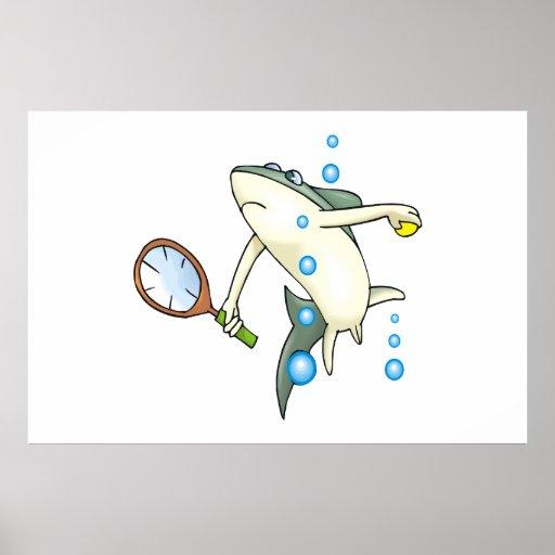 Tiburón del tenis posters