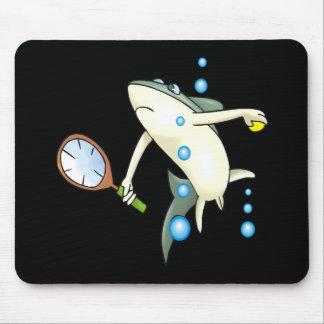 Tiburón del tenis alfombrillas de ratón