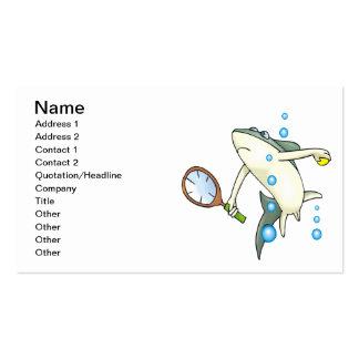 Tiburón del tenis tarjetas de visita