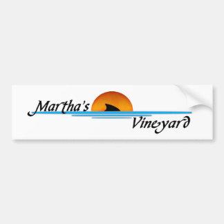 Tiburón del viñedo de Marthas Etiqueta De Parachoque