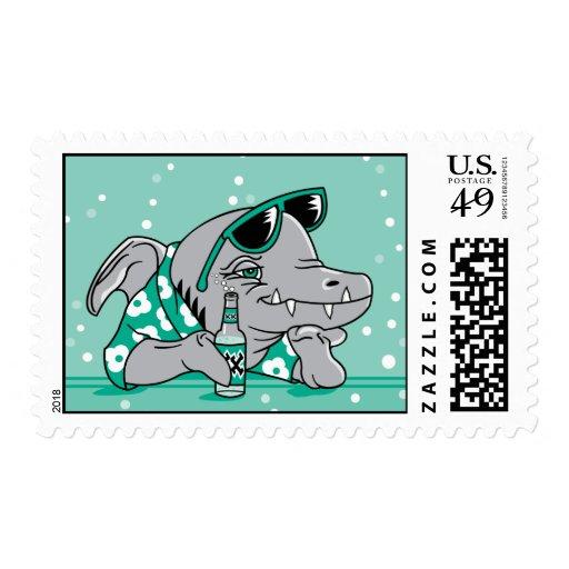 Tiburón deprimido sello