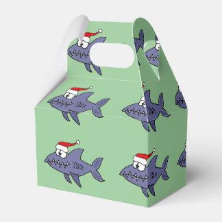 Tiburón divertido en arte del navidad del gorra de cajas para regalos de boda