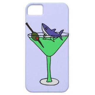 Tiburón divertido en el vidrio verde de Martini iPhone 5 Fundas