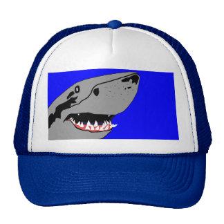 Tiburón en el casquillo del vagabundeo gorras de camionero