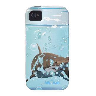 Tiburón en el tarro iPhone 4/4S fundas