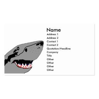 Tiburón en las tarjetas de visita del vagabundeo